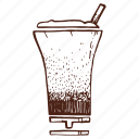 cappuccino, cocktail, coffee, cup, drink, milkshake, shake icon