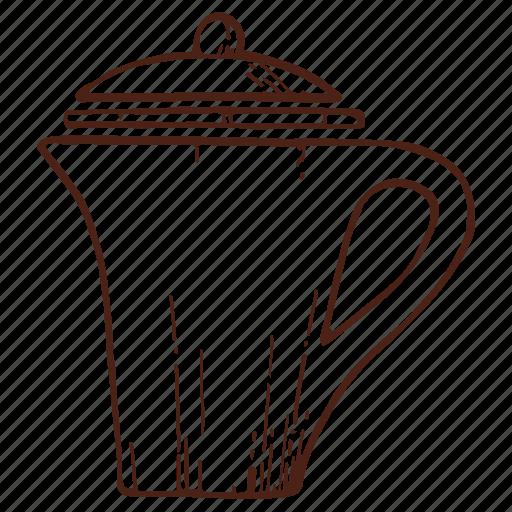 coffee, coffeepot, drink, hot, kettle, pot, tea icon