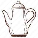 coffee, coffeepot, copper kettle, kettle, tea, teakettle, teapot icon