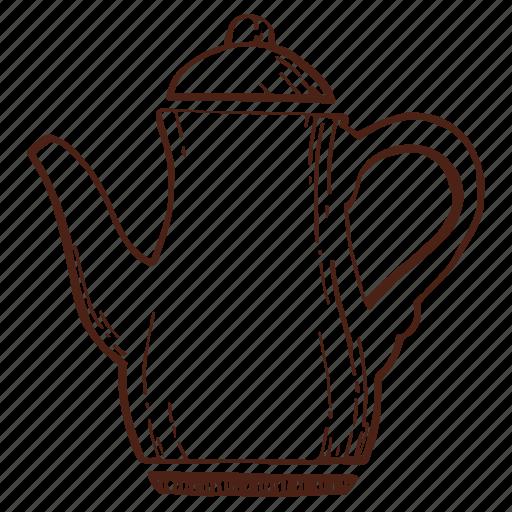 coffee, coffeepot, copper kettle, kettle, tea, teakettle, teapot icon