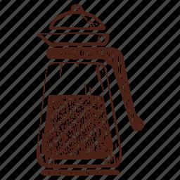 coffee, frenchpress, glass coffee pot, glass teapot, kettle, tea, teapot icon