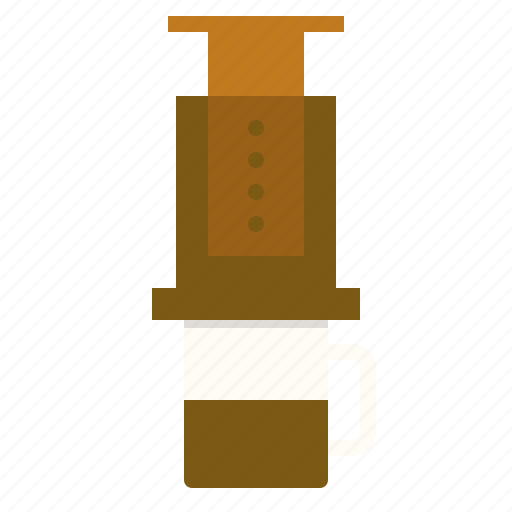 aeropress, americano, coffee, drink icon