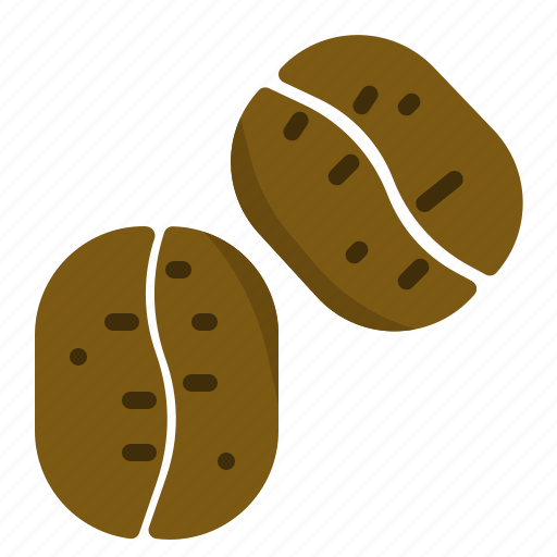 bean, coffee, roasted, seed icon