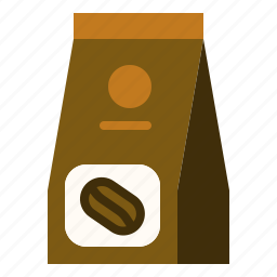 coffee, ground, pack, roasted icon