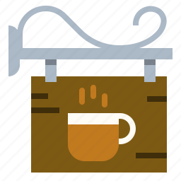 coffee, landmark, location, shop, sign icon
