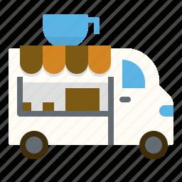 car, coffee, shop, truck icon