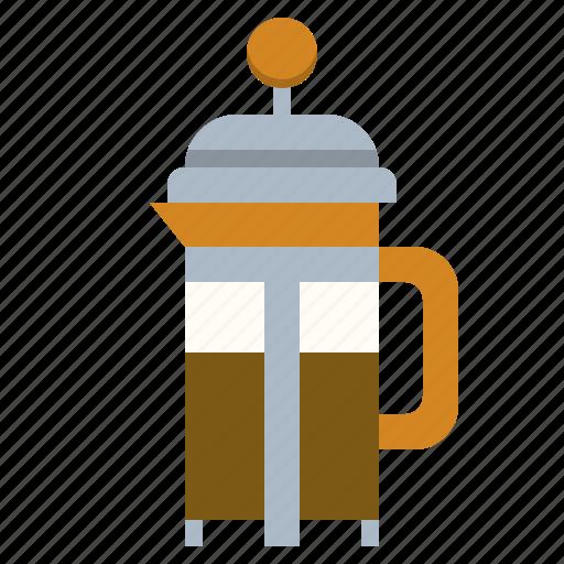 americano, coffee, drink, frenchpress icon
