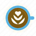 art, coffee, drink, latte, pouring icon