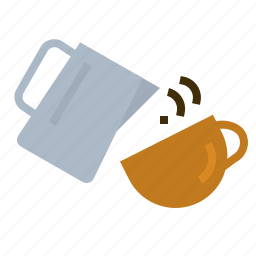 art, coffee, drink, latte, milk, pouring icon