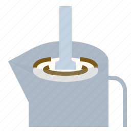 art, coffee, latte, milk, steaming icon