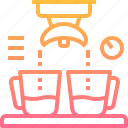 coffee, double, espresso, maker, shot icon