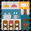 bar, chair, coffee, counter, shop icon