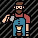 barista, coffee, jobs, server, shop icon