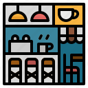 bar, chair, coffee, counter, shop icon