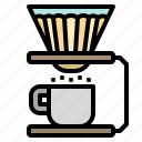 coffee, drip, filter, hot, paper icon