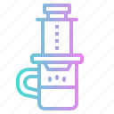 aero, coffee, hot, maker, press icon