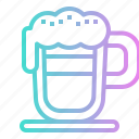 cappuccino, coffee, drink, hot, shop icon