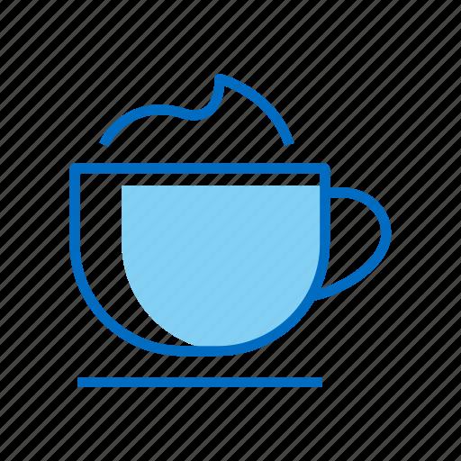 cappuccino, coffee, drink, latte icon
