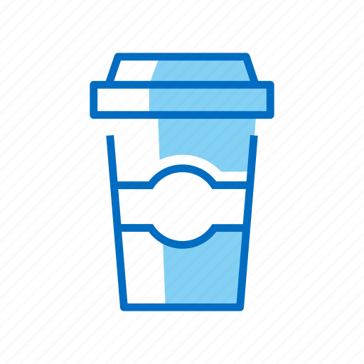 coffee, cup, paper, takeaway icon