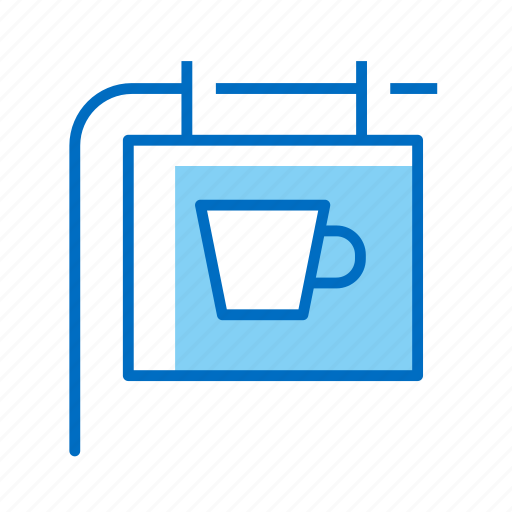 coffee, cup, shop, sign icon