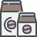 cafe, coffee, drink, pack icon