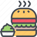 burger, fast food, food, hamburger, junk icon