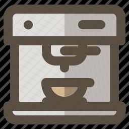 coffee, machine, maker, manual icon