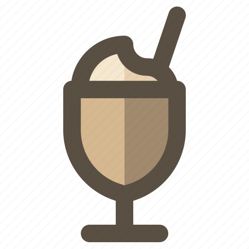 beverage, drink, frappuccino, latte icon