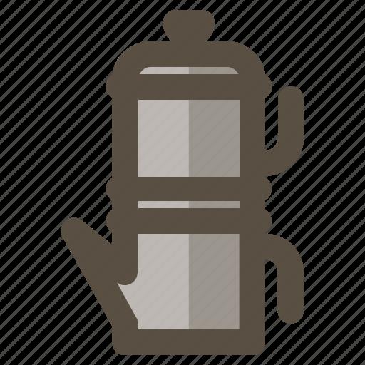 coffee, coffee maker, flip pot, neapolitan icon