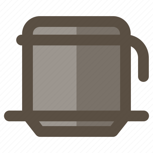 coffee, dripper, maker, vietnam drip icon