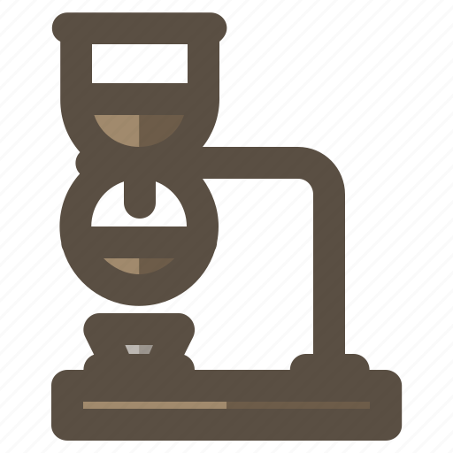 coffee, coffee maker, siphon, syphon icon