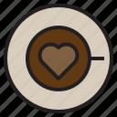 art, cafe, coffee, fragrant, heart, latte, shape