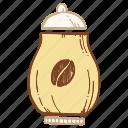 bowl, coffee, coffee box, sugar bowl