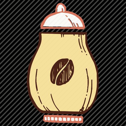 bowl, coffee, coffee box, sugar bowl icon