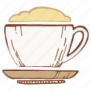 coffee, color, cup, foam, mug icon