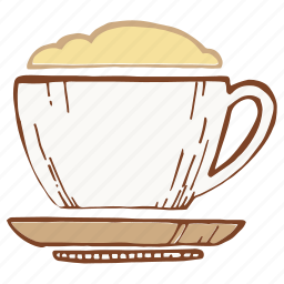 coffee, color, cup, foam, mug icon