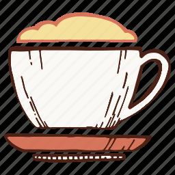 coffee, cup, foam, mug icon