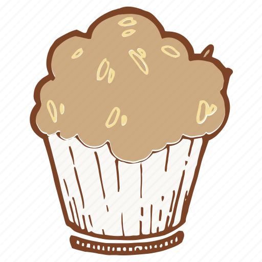 cupcake, dessert, fruitcake, muffin icon