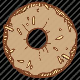 crumpet, dessert, donut, doughnut icon