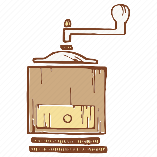 coffee, coffee mill, grinder, mill icon