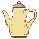 copper kettle, kettle, maker, teapot icon
