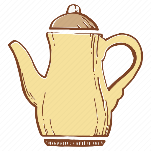 copper kettle, kettle, maker, teapot icon