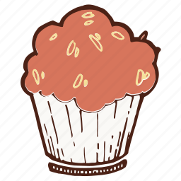 cupcake, dessert, fruitcake, muffin icon