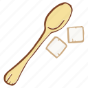 refined, spoon, sugar, sweetener icon