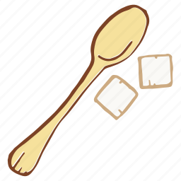 refined, spoon, sugar, sweetener icon