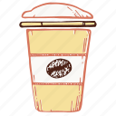 coffee, glass, takeaway, сup of coffee