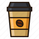 coffee, cup, paper icon