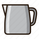 coffee, kettle, pitcher, pot icon