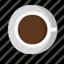 americano, coffee, cup, down, drink, espresso, hot icon