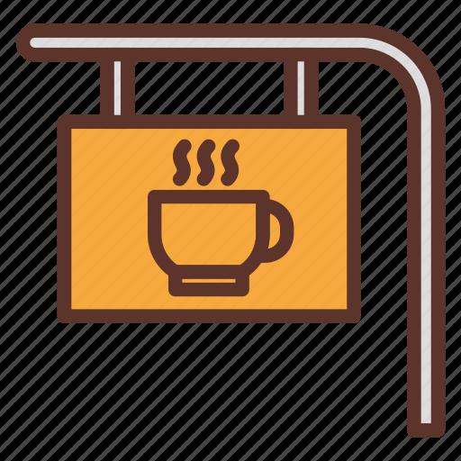 cafe, cafetaria, coffee, coffee bar, coffee bar sign, coffee shop icon